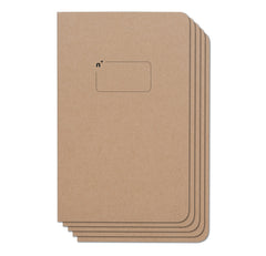 Blank 5 Pack of 5x8 Notebooks, 96 Pages