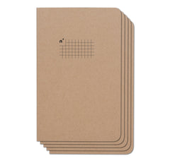 Squares 5 Pack of 5x8 Notebooks, 96 Pages