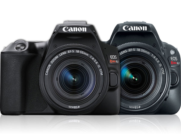 Comparing Canon EOS 250D Rebel SL3 and 200D SL2 DSLR Cameras