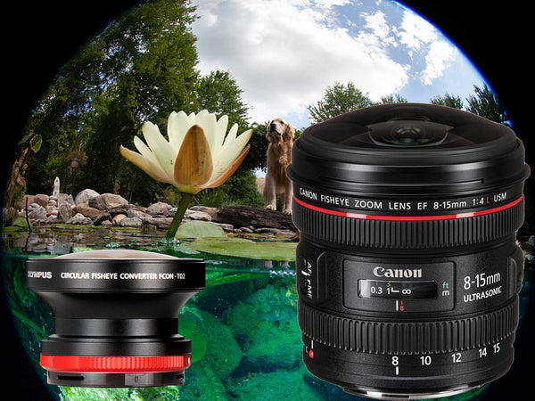 Circular Fisheye Showdown: Canon 8-15mm vs Olympus FCON-T02