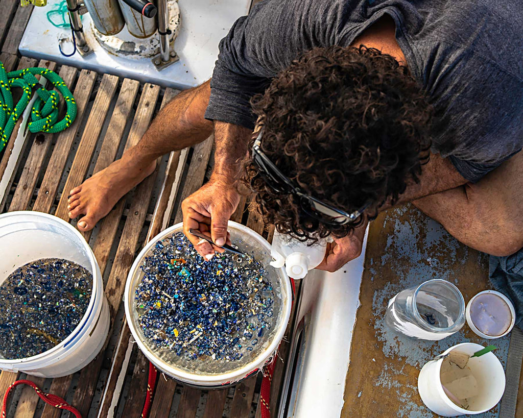 Quantifying microplastics in the Pacific Copyright Adam Hill