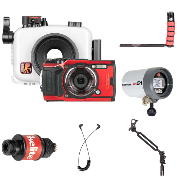 Underwater Housing, Olympus Tough TG-6 Camera and Strobe Deluxe Kit