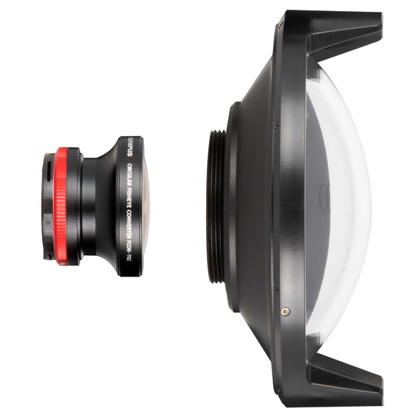 Dome Port for Olympus FCON-T02 Lens and Adapter Kit