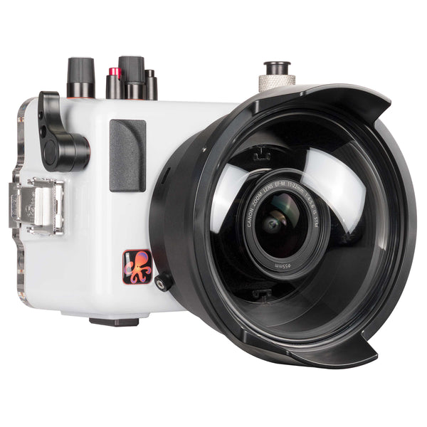 200dlm a underwater ttl housing for canon eos m50 kiss m mirrorless