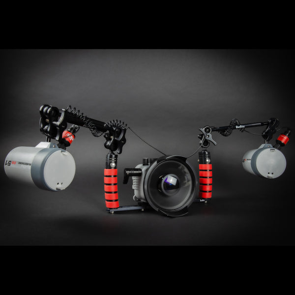 Underwater Housing, Olympus Tough TG-6 Camera and Strobes Wide Angle Kit