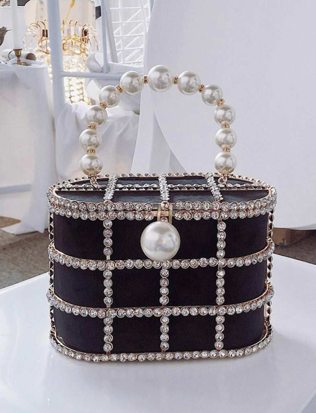Pearly Cage Clutch