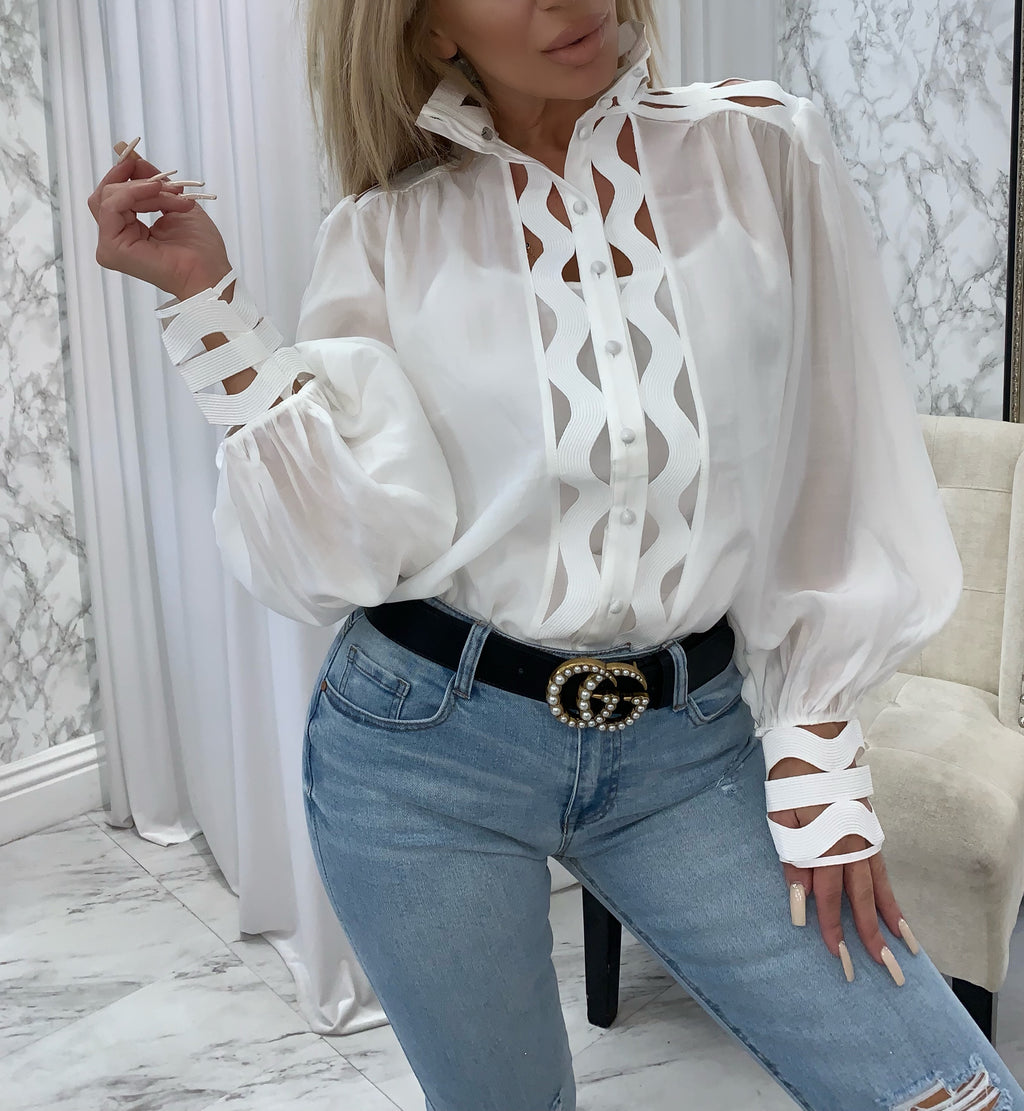 Liby Eyelet Top