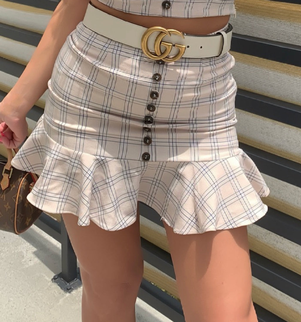 Girly Plaid Set
