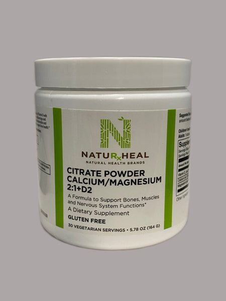 Citrate Powder Calcium/Magnesium 2:1+D2 (30) vegetarian servings 5.78 oz