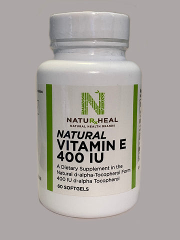 NATURAL VITAMIN E 400 IU 60 SOFTGELS