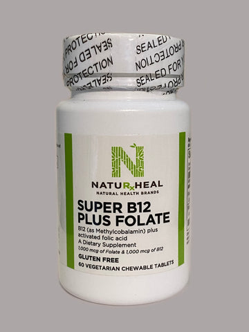 SUPER B12 Plus Folate CHEWABLE 60 VEG TABS