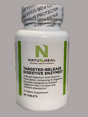 TARGETED-RELEASE DIGESTIVE ENZYMES. 90 TABS.