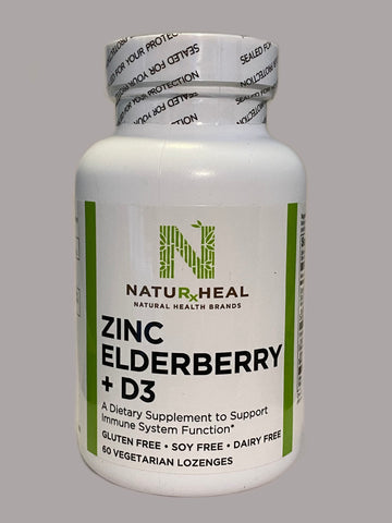 Zinc Elderberry + D3 60 vegeterian lozenges