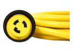 30A 125V Marine Shore Power Boat Cord Cable 25' Yellow