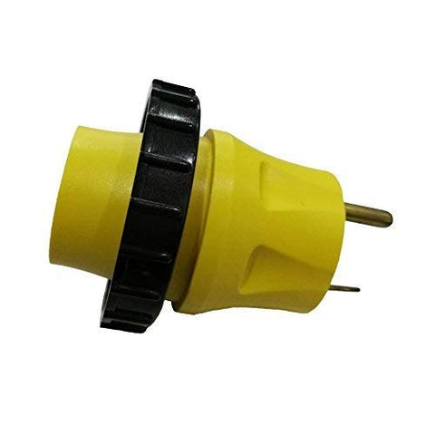 RV Adapter 30A TT-30P Male to Shore Power 30A L5-30R Female with Locking Ring