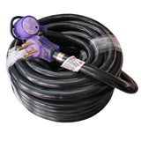 RV 125/250v 50a x 75' 14-50 Extension Cord with Lighted Ends