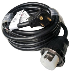 RV 50' Adapter Cord, TT-30 125v 30 amp  x 125/250v 50a SS2-50 Twistlock 50a