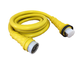50A 125/250V Marine Shore Power Boat Cord 15' Yellow - 21511