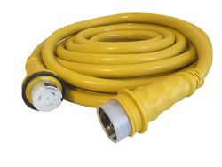 50A 125/250V Marine Shore Power Boat Cord 50' Yellow - 21515