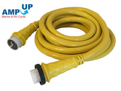 50A 125/250V Marine Shore Power Boat Cord 25' Yellow - 21512