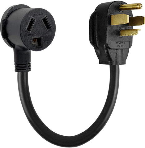 Dryer Adapter, 30a 14-30p 4-prong to 10-30r 3-prong pigtail