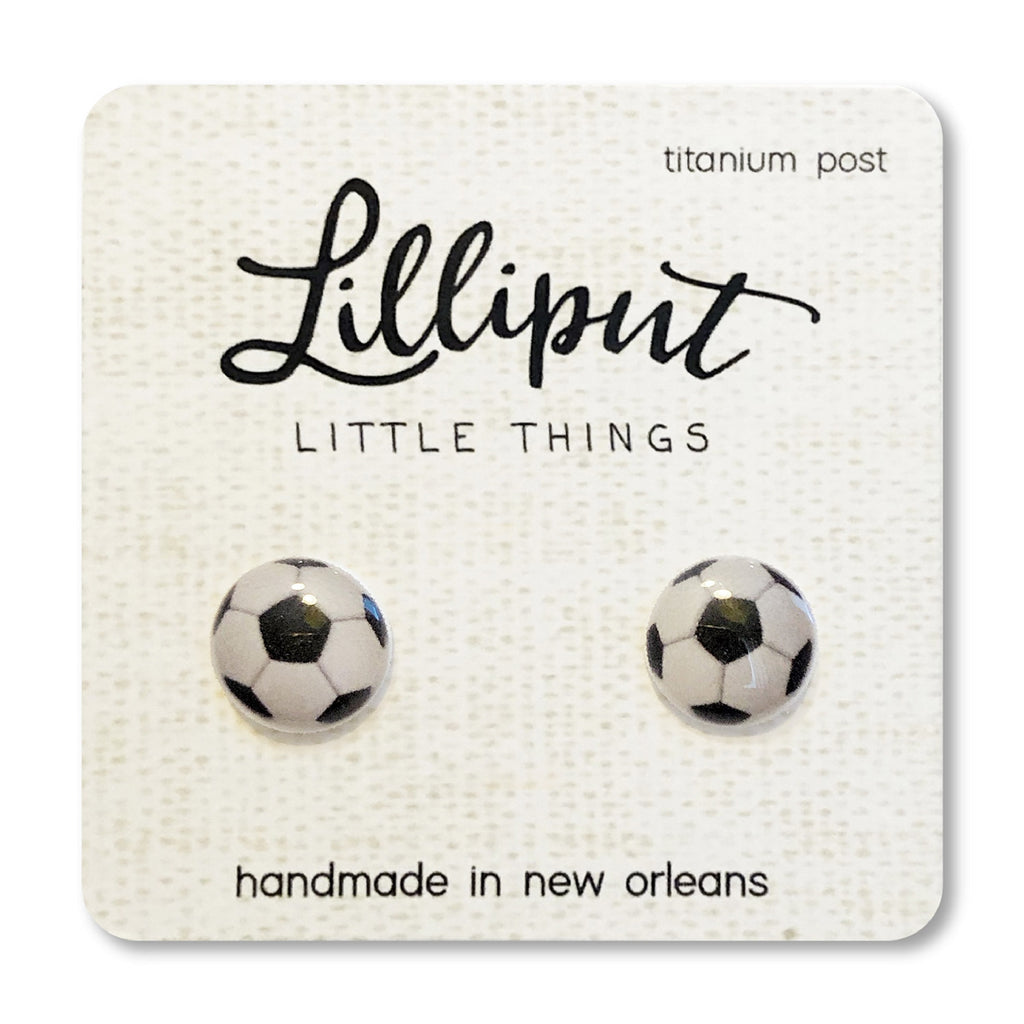 Lilliput - Soccer Ball Earrings