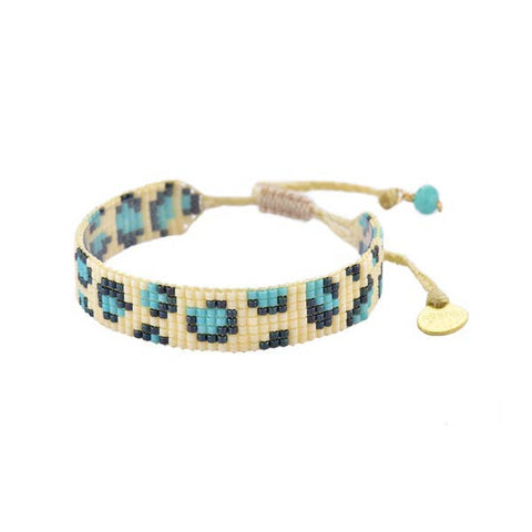 Mishky- Beaded Bracelet- Cream Panthera