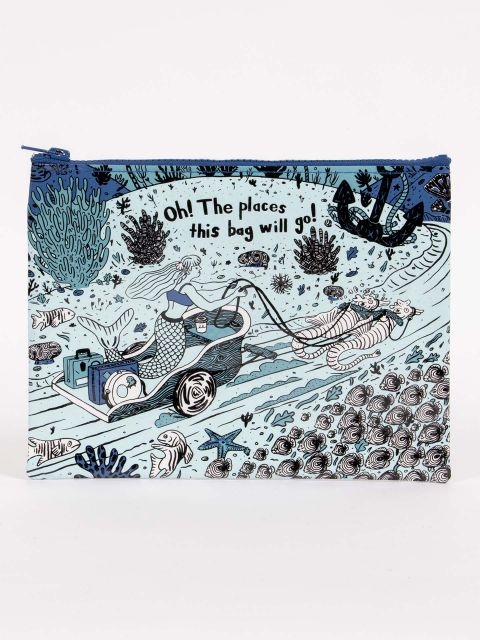 Blue Q Zip Pouch - Oh! The Places