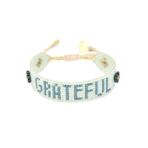Mishky- Beaded Bracelet- Grateful Mint