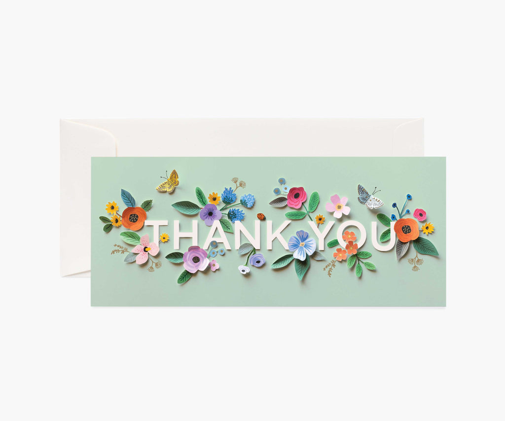 Rifle Paper Card - Cut Paper Thank You No. 10