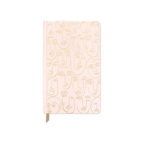 Cloth Covered Book - Blush Pink Faces