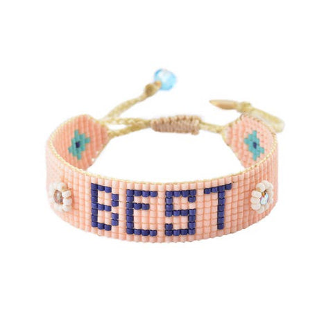 Mishky- Beaded Bracelet- Best Coral