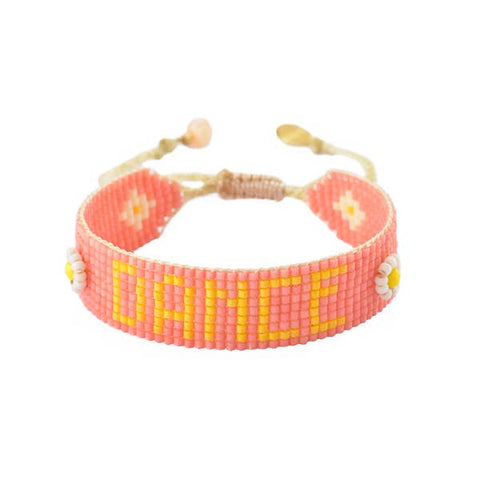 Mishky- Beaded Bracelet- Dance Pink