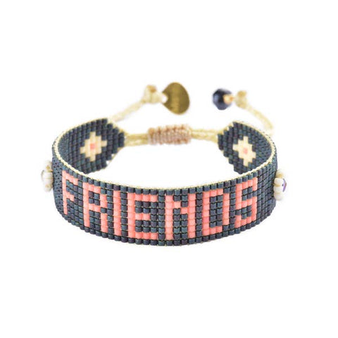 Mishky- Beaded Bracelet- Friends Charcoal