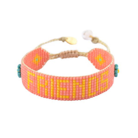 Mishky- Beaded Bracelet- Friends Coral