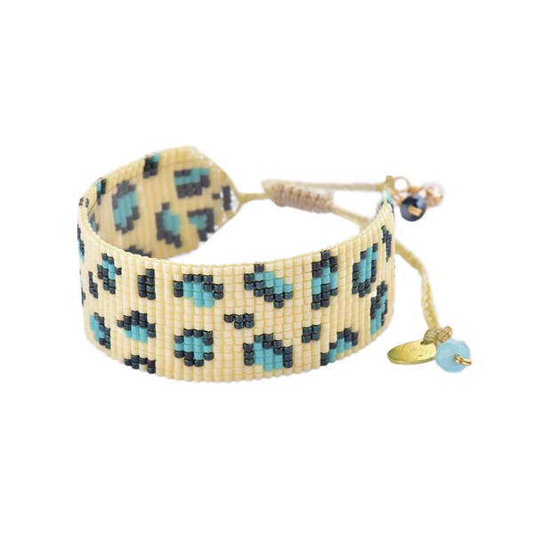 Mishky- Beaded Bracelet- Panthera Cream