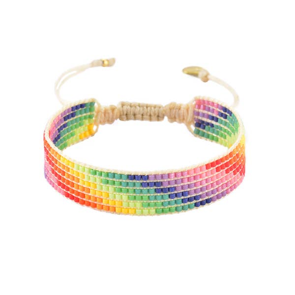 Mishky- Beaded Bracelet- Rainbow Stairs
