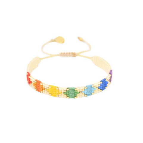 Mishky- Beaded Bracelet- Rainbow Yeyi