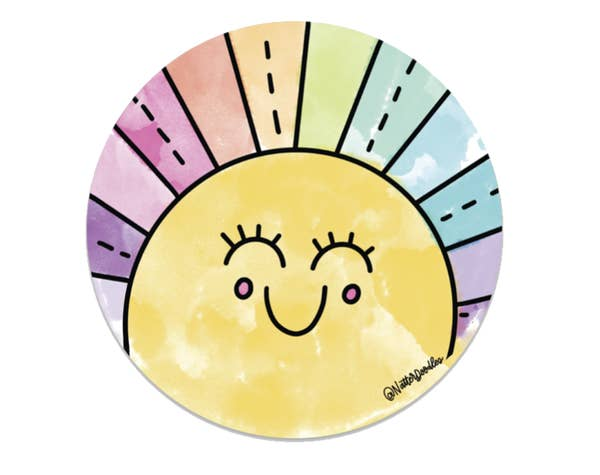 NatterDoodle Sticker - Rainbow Sunshine