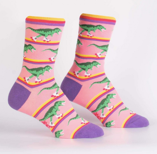 Sock It To Me Women's Crew Socks - Rawr-ler Rink