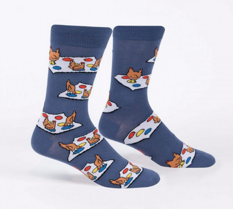 Sock It To Me Men's Crew Socks - Beaks on Red