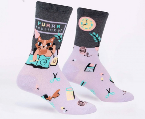 Sock It To Me Women's Socks - Purrrfessional