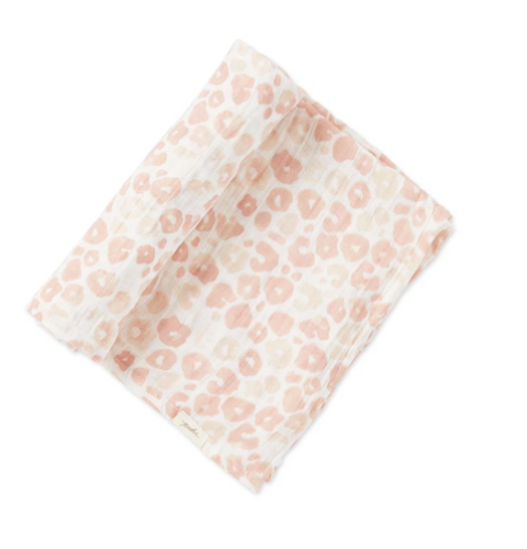 Pehr Leopard Swaddle - Blush