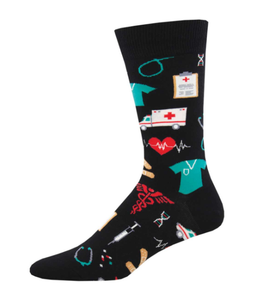 Socksmith Men's Sock - Healthcare Heroes - Black