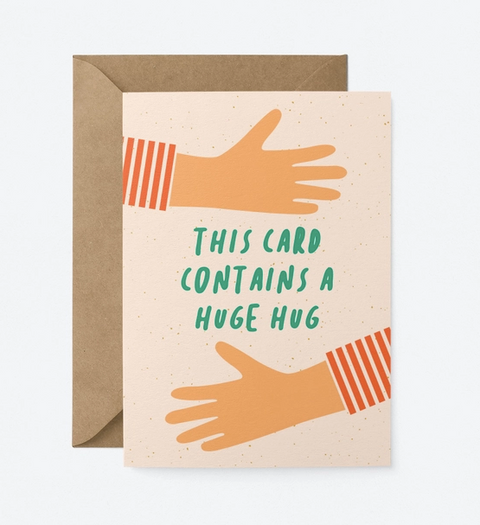 Graphic Factory Card - This Card Contains A Huge Hug