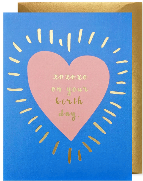 J*Falkner Card - XOXO Birthday Heart