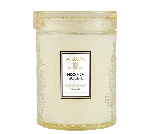 Voluspa Embossed Glass Jar Candle - Nissho Soleil