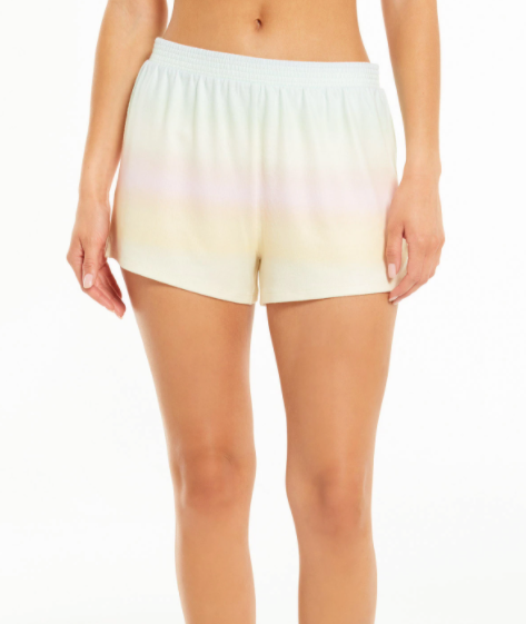 Z Supply - Friyay Rainbow Shorts - Dusty Aqua