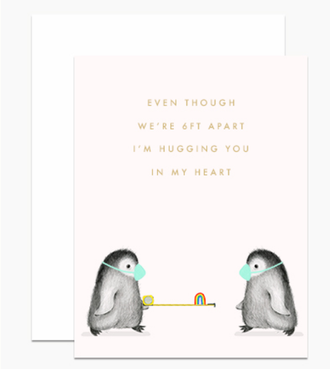 Dear Hancock - 6ft Apart Penguins Card