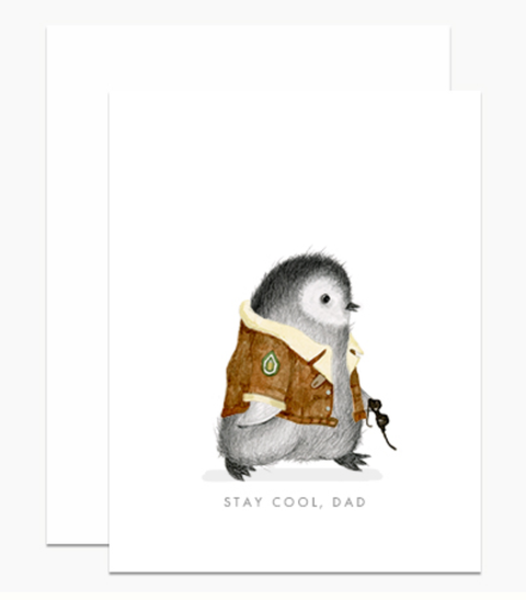 Dear Hancock - Cool Dad Penguin Card